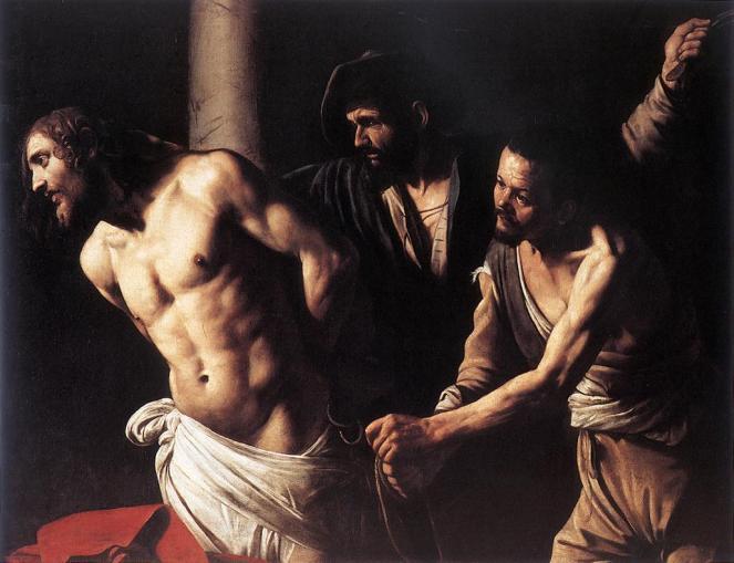 Christ at the Column by Caravaggio via Public Domain